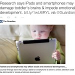 No, the research doesn't say that iPads damage brains